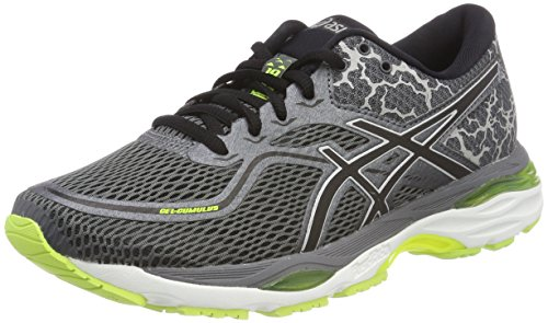 ASICS Herren Gel-Cumulus 19 Lite-Show Laufschuhe, Grau (Carbon/Black/Safety Yellow 9790), 41.5 EU