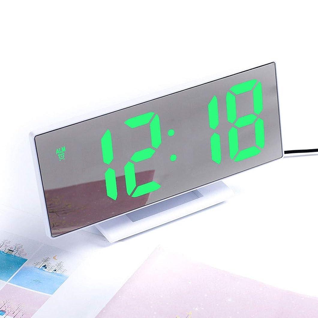定義大学生懸念LVESHOP デジタル目覚まし時計LEDミラークロック多機能スヌーズ表示時間ナイトテーブルデスクトップオフィスホーム寝室 (色 : T1)