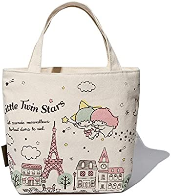 Hadaboo Cute Cartoon Canvas Kids Lunch Bag mochila Women Shopping Storage Bag