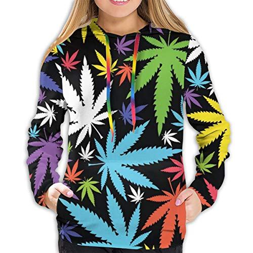 Rockboy Sudadera con Capucha de Mujer Imagenes De Marihuanos Chidas, XL Sudadera