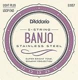 D'Addario EJS57 Set per Banjo a 5 Corde, Acciaio Inossidabile, Tensione Media, 11-22...