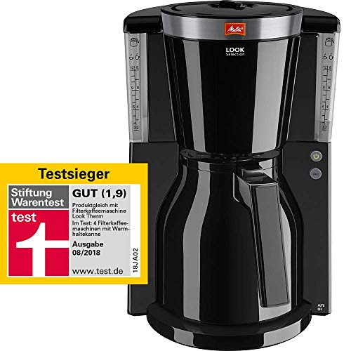 Melitta 1011-12 LOOK IV Therm Selection Filter-Kaffeemaschine, schwarz