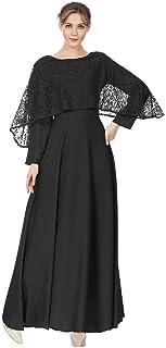 e0e4114a036 Meijunter Robes Musulmanes pour Femmes - Robe de Prière en Dentelle à  Manches Longues Abaya Vêtements