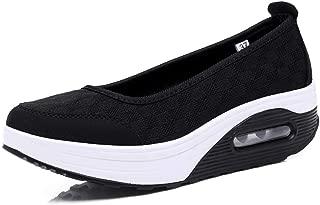 Akk Easyshoes Womens Platform Walking Shoes - Comfort Casual Mesh Slip On Sneakers
