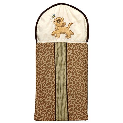 Disney Lion King Simba's Wild Adventure Appliqued Diaper Stacker, Ivory, Brown, Sage, Tan