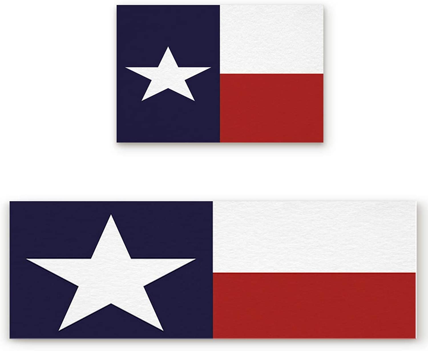 SODIKA 2 Pieces Kitchen Rug Set,Non-Skid Slip Washable Doormat Floor Runner Bathroom Area Rug Carpet,Texas State Flag Red White bluee (19.7x31.5in+19.7x63 inches)