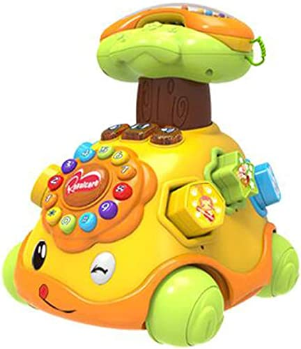 TLMYDD Kinder Wald Telefon Auto Spielzeug Infant Kinder Musik Früherziehung Lernspielzeug, 20,5x21,5x24 cm Lernspielzeug für Kinder