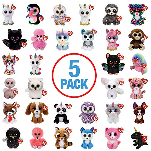 TY Beanie Boo Boos - Plush Soft Toy - Random 5 Pack (No Duplicates)