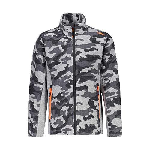 CMP Jungen Camouflage Man Jacke mit durchgehendem Reißverschluss 30H7804, Cemento-Titanio, 164