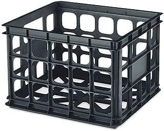 Sterilite Plastic Storage Crate, Black