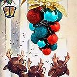 XXLYY Adornos navideños Bolas de árbol Adornos de Bolas navideñas Set inastillable para la decoración del Banquete de Boda de Vacaciones
