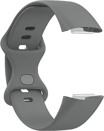 CZSMART Siliconen sport reserveband compatibel met Fitbit Charge 5 TPU Soft Watch Band voor Smart Watch Health Tracker