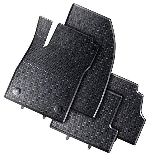 DAPA 1104011-1 Passgenaue Auto-Gummimatten mit Befestigungen für die Fahrerseite 4-teilig
