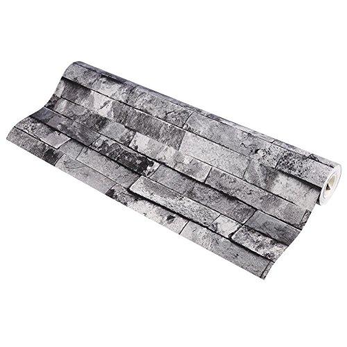 Tapeten, Modern Slate Brick Pattern Premium Tapeten Luxus Dekorative 3D Stein Effekt Geprägte Tapete Kunstdruck Design Seitenwand PVC Tapete