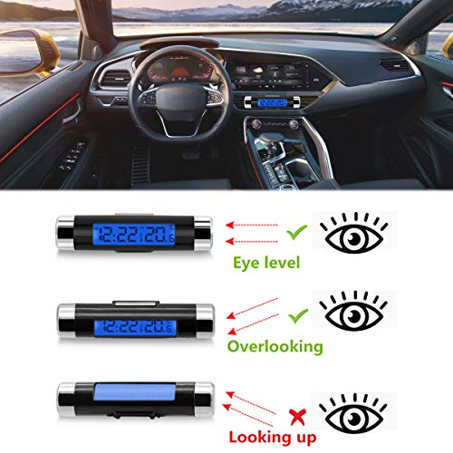 Rumfo Car Auto LCD Display 2 in 1 Clock Thermometer Product Image