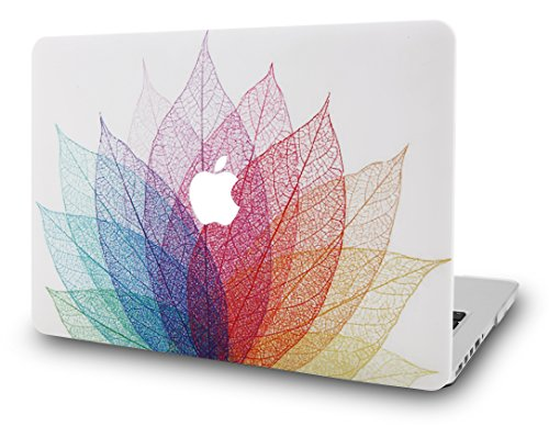 KECC MacBook Air 13' Retina Case (2020/2019/2018, Touch ID) Plastic Hard Shell Cover A1932 (Not Compatible Mac Air 13' A1466/A1369) (Leaf - Colourful 2)