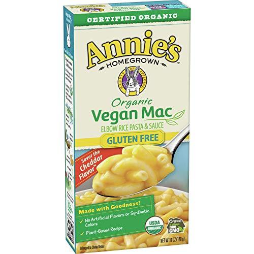 Annie#039s Organic Vegan Gluten Free Elbow Rice Pasta amp Creamy Sauce 6 oz Pack of 12