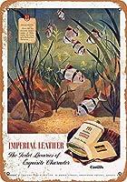 1948インペリアルレザートイレットパウダーコレクティブルウォールアート