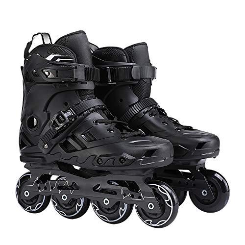 XIHAI Inline Skates Erwachsene Pu Hochelastisch Inliner Damen Kindergummi Vier RäDer Inline Skates Damen Schwarz Und Weiß 35-44,Schwarz,38
