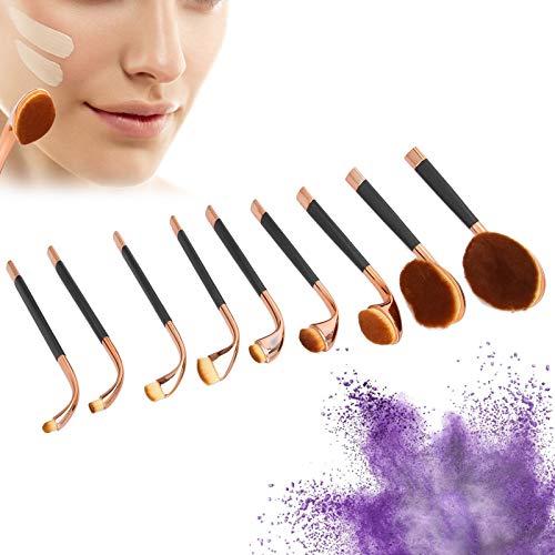 Pinceaux de maquillage, ensemble de pinceaux de maquillage Pinceaux de sculpture en poudre professionnels pour la maison(AW01 poignée noire dorée)