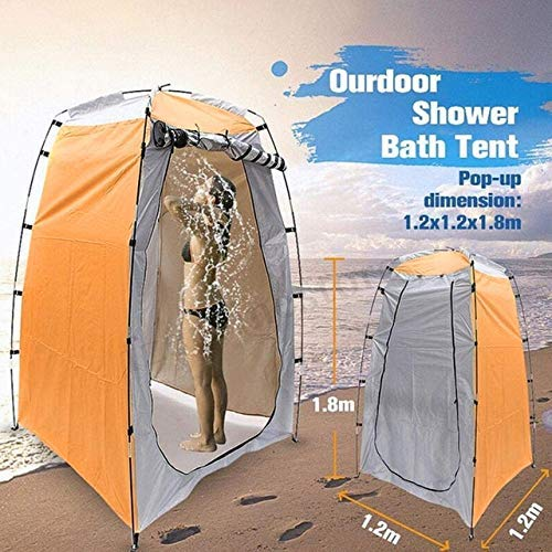 NLRHH Pop-up Tent Portable Privacy Shower Toilet Camping Outdoor Shower Bath Changing Fitting Room Beach Tents Rain Sun Shelter peng (Color : Yellow)