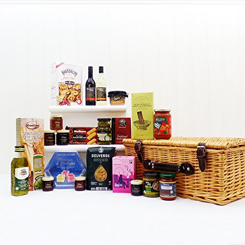 The Classic Wicker Food Gift Hamper 22 Items - Perfect gift idea for Mum, Mothers Day, Christmas Hampers, Birthday, Retirement, Corporate Presents, Business gifts, him, her, Dad, Fathers Day