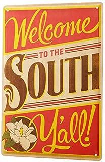 Tin Sign Nostalgic Motif  Southern Bell Southern