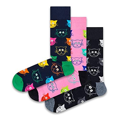 Happy Socks 3 Pack Animal Gift Box Calzini, Multi, 41-46 Unisex-Adulto