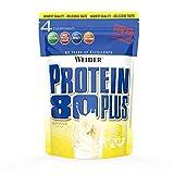 Weider Protein 80 Plus, Proteina de suero de suero de leche, Sabor Plátano, 2000 gr