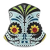 MYGZ-GW Día de los muertos 2017 Calendario de pared Calaveras de azúcar Bufanda Calentador de cuello Microfibra suave Sombreros Máscara de bufanda facial