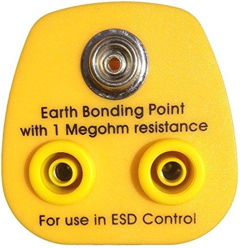 Preisvergleich Produktbild Antistatischer ESD-Erdungsstecker. With 1 x 10mm stud,  2 x 4mm Banana EU Version