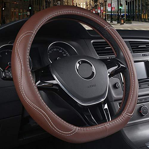 LDSHW Lenkradabdeckung für Auto Lenkradbezug D Typ für Citroen C3-XR C4 Sega C4L Elysee DS3 DS4 DS5 DS3 Audi TT S Volkswagen Golf 7 Polo, Kaffee