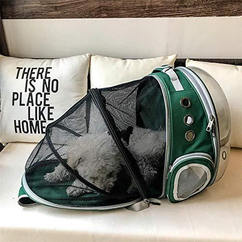 Volwco Mochila para Gato, Transparente, con cápsula Espacial, Mochila para Transportar Mascotas, múltiples Rejillas de Aire, Mochila portátil Plegable para Viajes al Aire Libre
