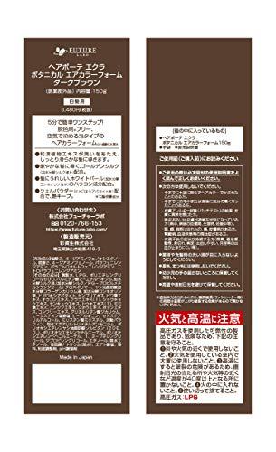 【公式】ヘアボーテエクラボタニカルエアカラーフォームダークブラウン150g(白髪染め)(医薬部外品)(セミロング:全体1回+リタッチ11回程度)