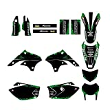 XIAOZHIWEN Motorcycle Graphics Fondos Decal Sticker Kit para Kawasaki KLX450 2008-2012 Universal