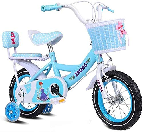 Bicicleta para Niños y Niñas Cabritos de las muchachas de bicicletas Jenny conejito 12 14 16 18 20 pulgadas de bicicletas 3-12 Años de Edad cesta Ciclo ruedas de entrenamiento pata de cabra blanca ros