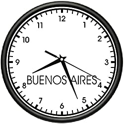 Buenos Aires TIME Wall Clock World time Zone Clock Office Business