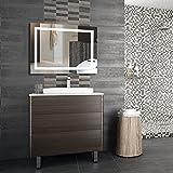 wefun specchio luce led,100 x 60cm specchio bagno con illuminazione interruttore,6000k,23w