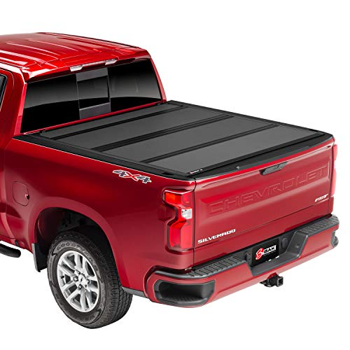 "BAK BAKFlip MX4 Hard Folding Truck Bed Tonneau Cover | 448130 | Fits 2019-20 GM Silverado, Sierra 1500 5'8"" Bed"