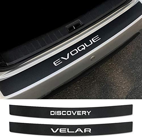 Protezioni per paraurti posteriore in fibra di carbonio auto, for per Land Rover ROVER Auto Tronco posteriore Trunk Sill Placca Spreff Anti-Scratch Collision Sticker Strip Striscia ACCESSORE ACCESSORI