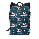 Homebe Christmas Hat Gift Rabbit Mochila,Mochila Unisex, Mochilas y Bolsas School Travel Hiking Small Mini Gym Teen Little Girls Youth Kid Women Men Printed Patterned Themed Bookbags