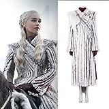 Rubyonly Juego de Tronos 8 de Disfraces de Halloween Daenerys Targaryen Piel de Las Mujeres Vestidos de Capa,Overcoat,S