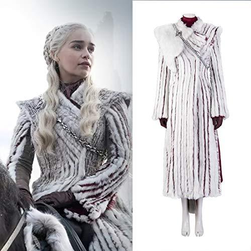 Rubyonly Game of Thrones 8 Halloween-Kostüm Daenerys Targaryen Sets Frauen Umhang Kleider,Fullset,M