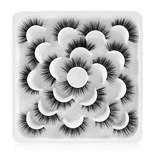 Newcally False Eyelashes Natural Volume 3D Faux Mink Lashes 10 Pairs Pack