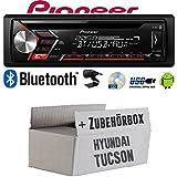 Autoradio Radio Pioneer DEH-S3000BT - Bluetooth | CD | MP3 | USB | Android Einbauzubehör - Einbauset für Hyundai Tucson - JUST SOUND best choice for caraudio