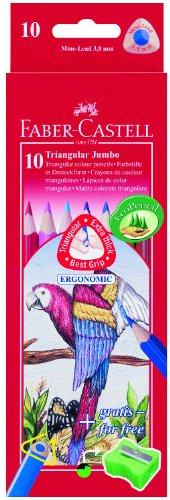 Faber-Castell Crayons de couleur Triangular JUMBO, Étui en