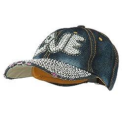 Dk Denim Rhinestone Jeweled Baseball Cap