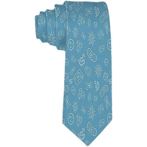 Heren Classic Geweven Zakelijke Tie Polyester Zijde Necktie Veel Bacteriën en Virussen Onder Microscoop Ties