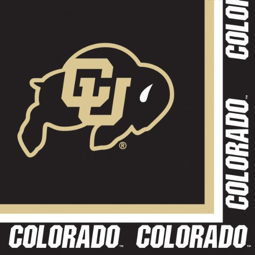 20-Count Paper Lunch Napkins, University of Colorado Buffaloes
