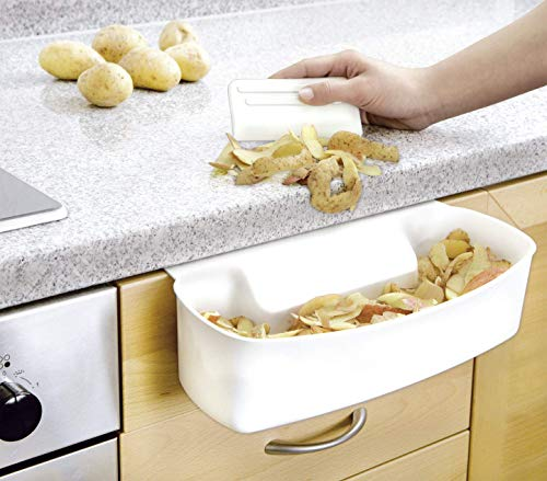 WENKO 7730100 Recipiente para cocina para recoger las basuras - con rascador,...
